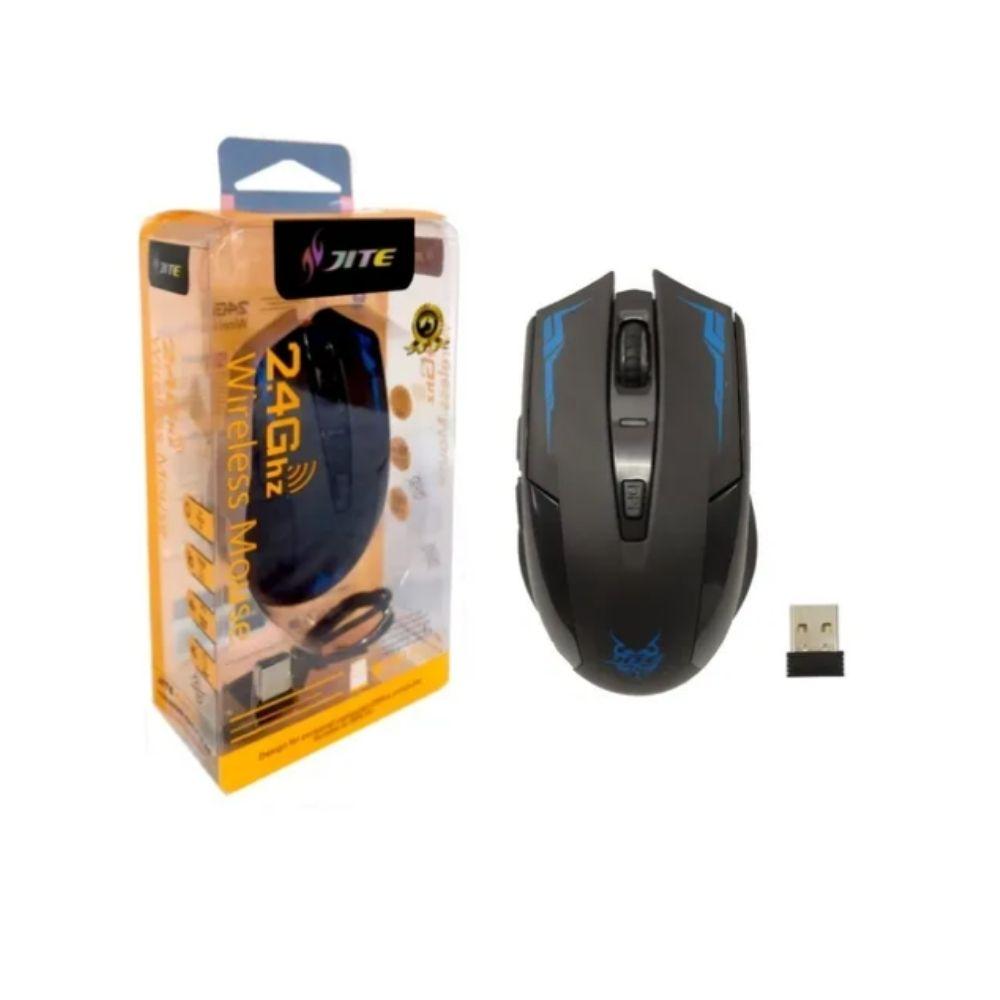 Mouse Clique Silencioso Recarregável C/ Bateria Sem Fio Gamer