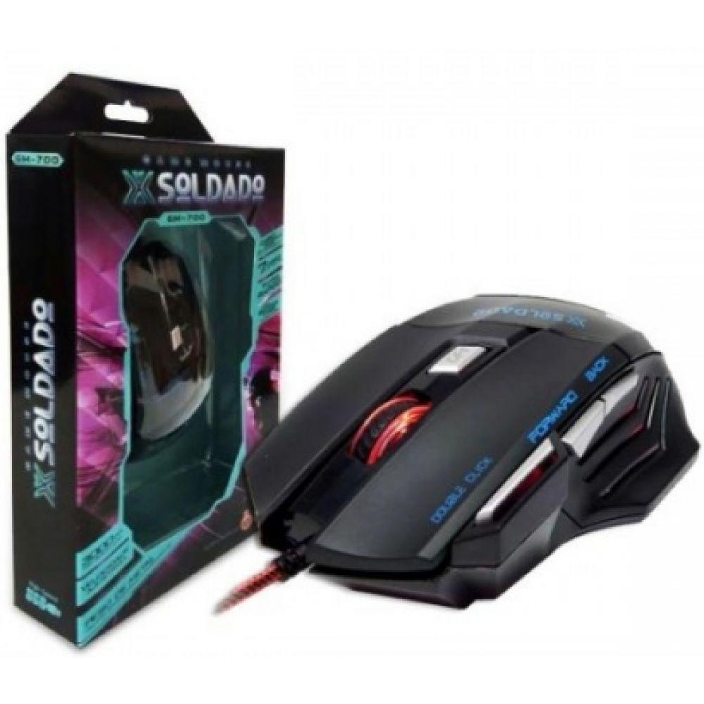 Mouse gamer Usb Com Fio Soldado 3000 DPI