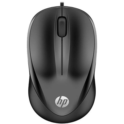 Mouse Hp Elegante - Com Fio Usb Preto 1200 Dpi - Original