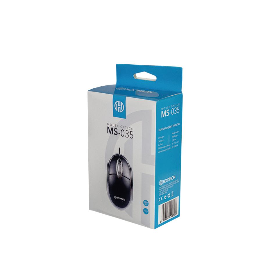 Mouse Óptico Hoopson Usb Ms-035 800dpi