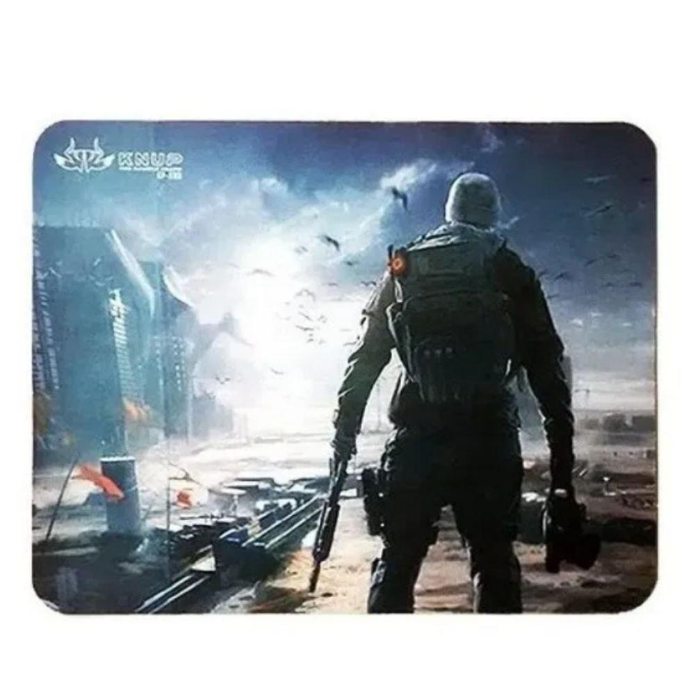 Mouse Pad Gamer Knup Antiderrapante Apocalipse  26x21 Cm Kp-s03