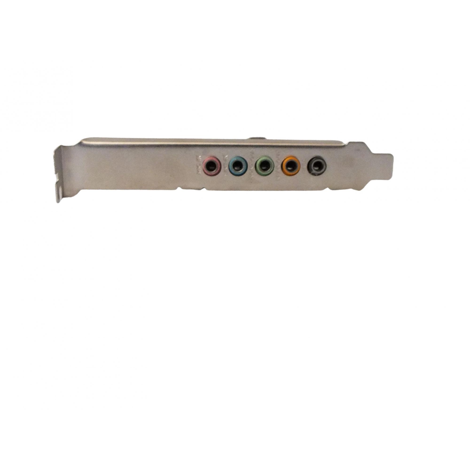 Placa De Som Pci 5.1 6 Canais Chipset: Cmi8738
