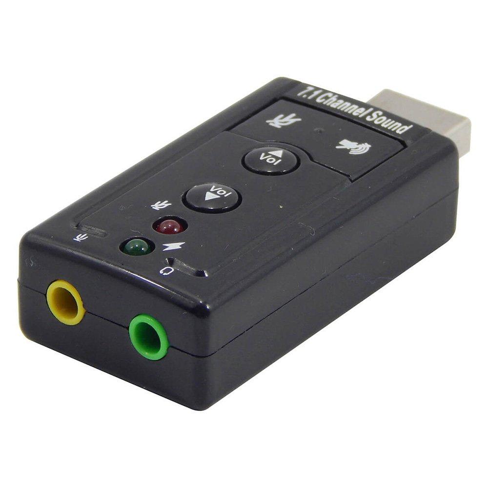 Placa De Som Usb 7.1 Canais Adaptador Audio Fone Shinka