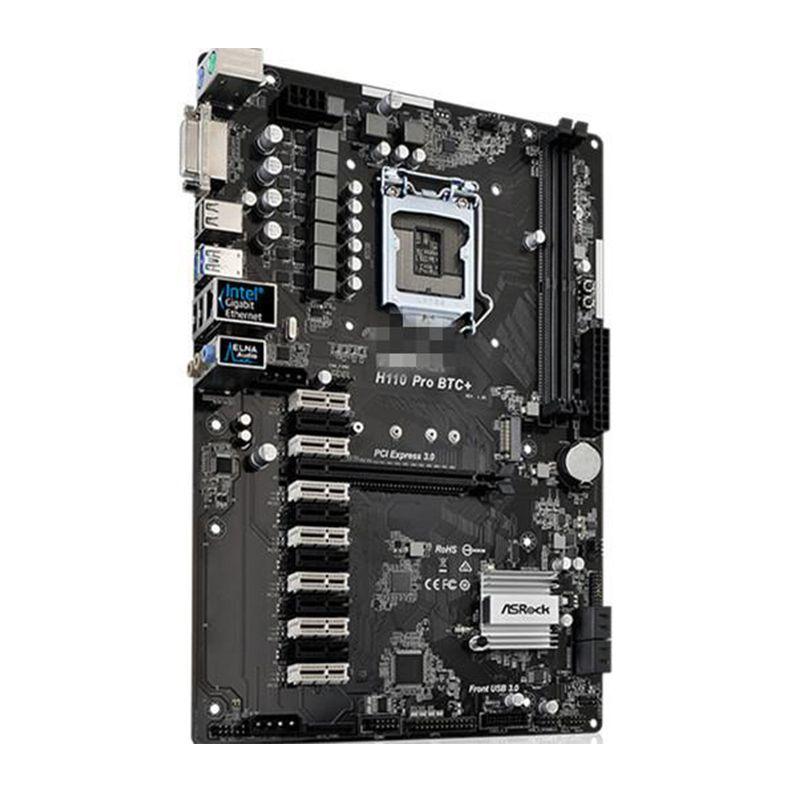 Placa-Mãe ASRock p/ Intel LGA 1151 ATX H110 PRO BTC+ DDR4