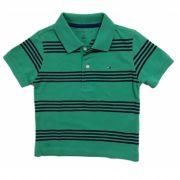Camiseta Listrada Verde Bandeira/Azul - Tommy Hilfiger