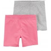 Kit  2 shorts cinza/rosa - Carters