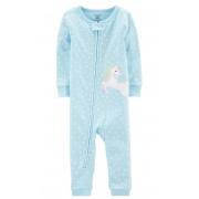 Macacão/Pijama Azul Unicórnio