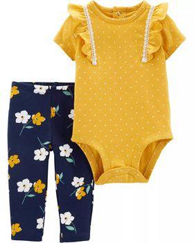 2-Piece Polka Dot Bodysuit Pant Set (Prazo entrega em até 40 dias para chegar Brasil + Postagem Brasil)