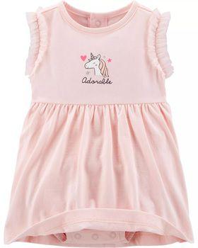 2-Piece Unicorn Bodysuit Dress & Cardigan Set (Prazo entrega em até 40 dias para chegar Brasil + Postagem Brasil)