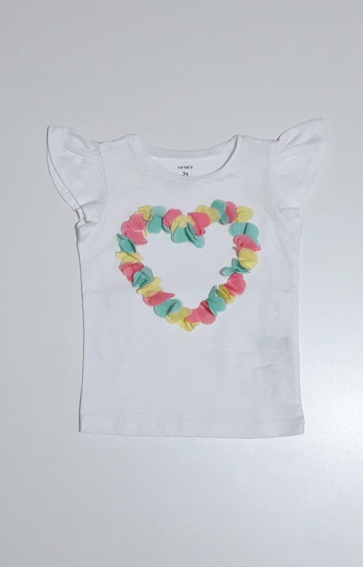 Camiseta Heart - Carter's