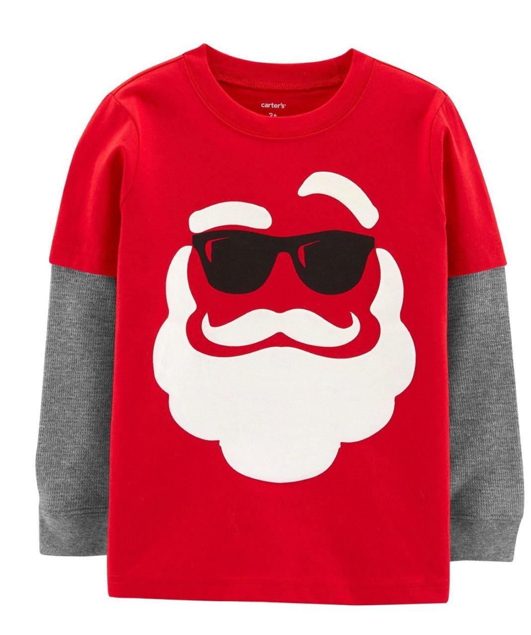 Camiseta Manga Longa Santa Claus - Carter's