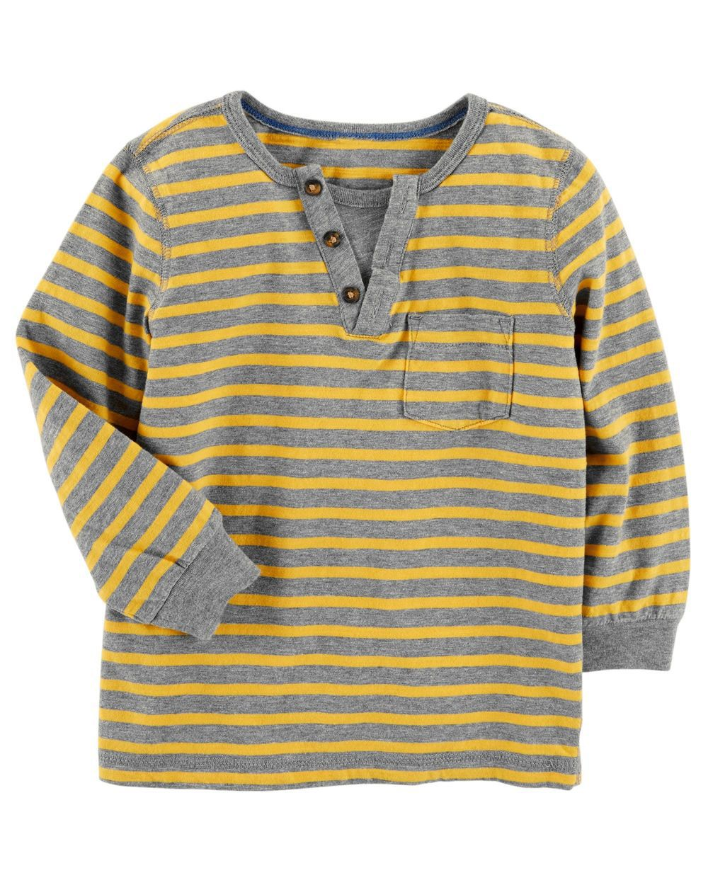 Camiseta Manga Longa Yellow/Gray - Carter's