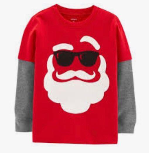 Camiseta  Manga Longa Sta Claus - Carters