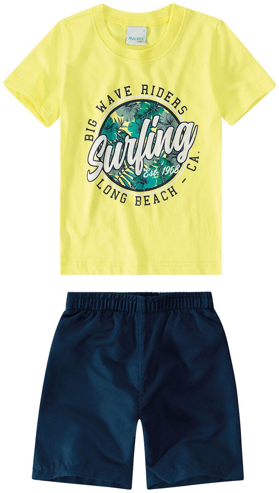 Conjunto Camiseta + Bermuda - Long Beach - Malwee