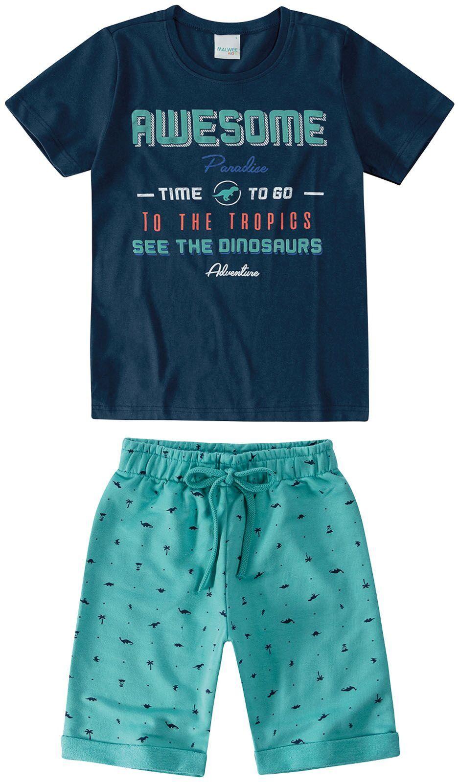 Conjunto Camiseta + Bermuda - Paradise - Malwee