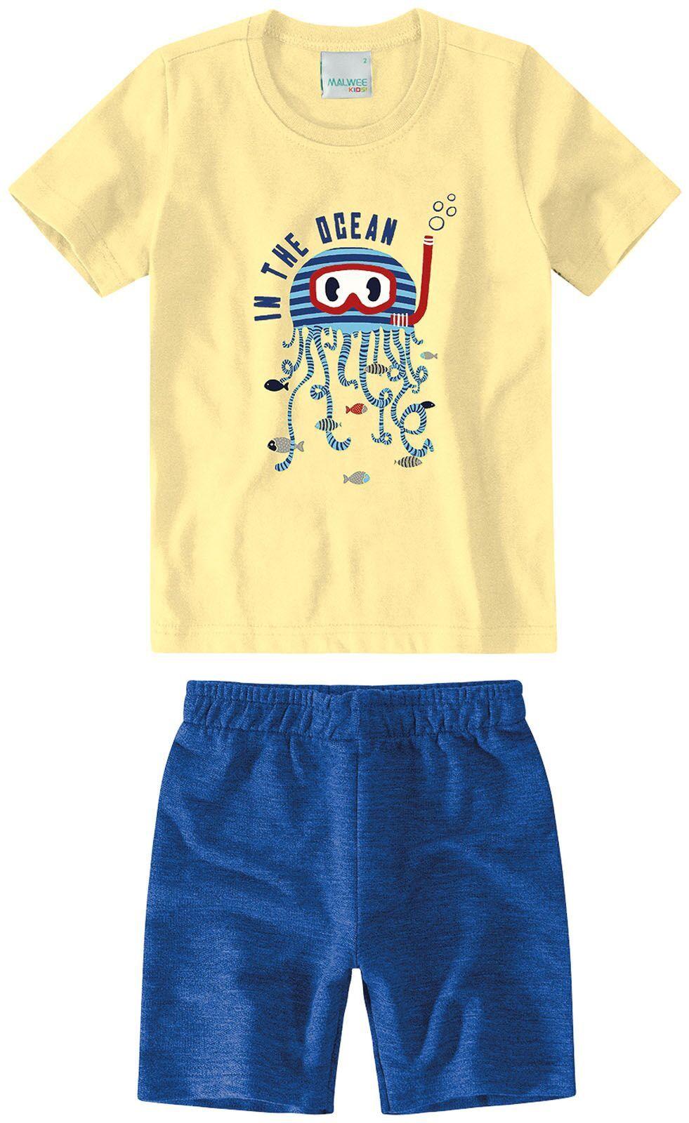 Conjunto Camiseta + Bermuda - Polvo - Malwee