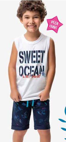 Conjunto Regata + Bermuda - Sweet Ocean - Malwee