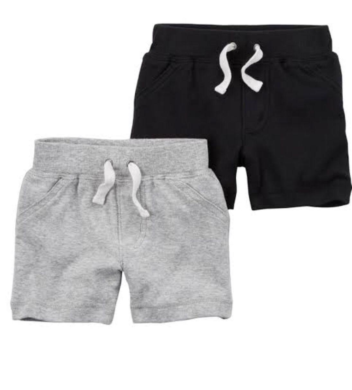 Kit 2 pçs Short Cinza/Black - Carters