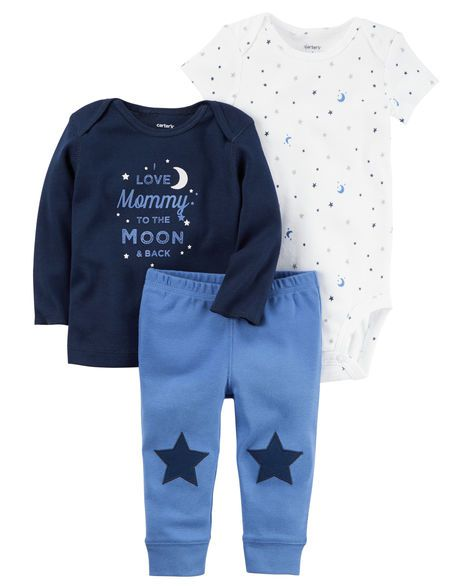 Kit 3 pçs I Love Mommy To the Moon & Back - Carter's