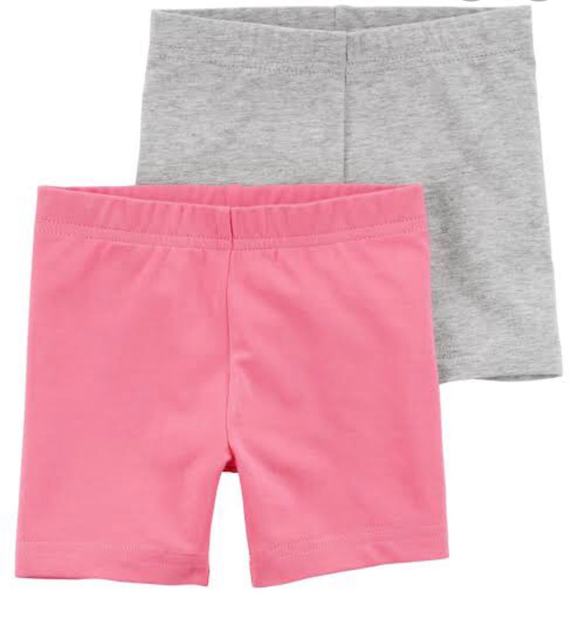 Kit Camiseta Heart + 2 shorts cinza/rosa - Carters