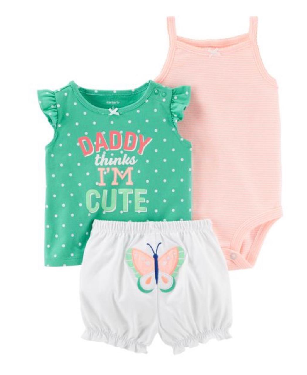 Kit Verão 3 pçs Daddy Thinks Cute - Carter's