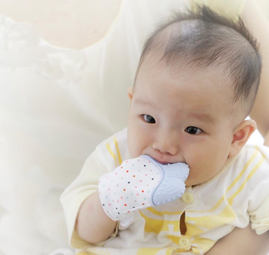 Luva Mordedor De Silicone Para Bebês Gengivas E Dentição