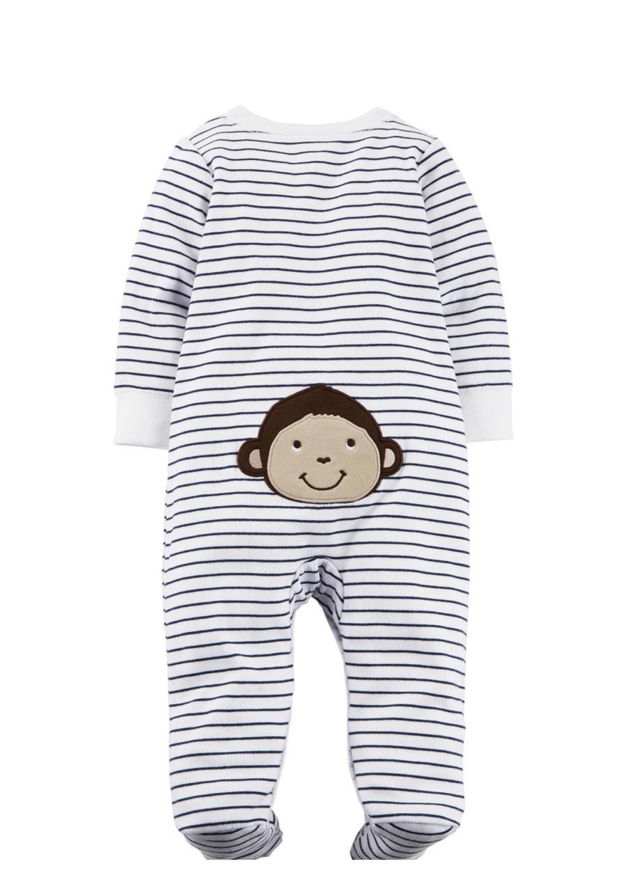 Macacão Listrado Baby Monkey - Carter's
