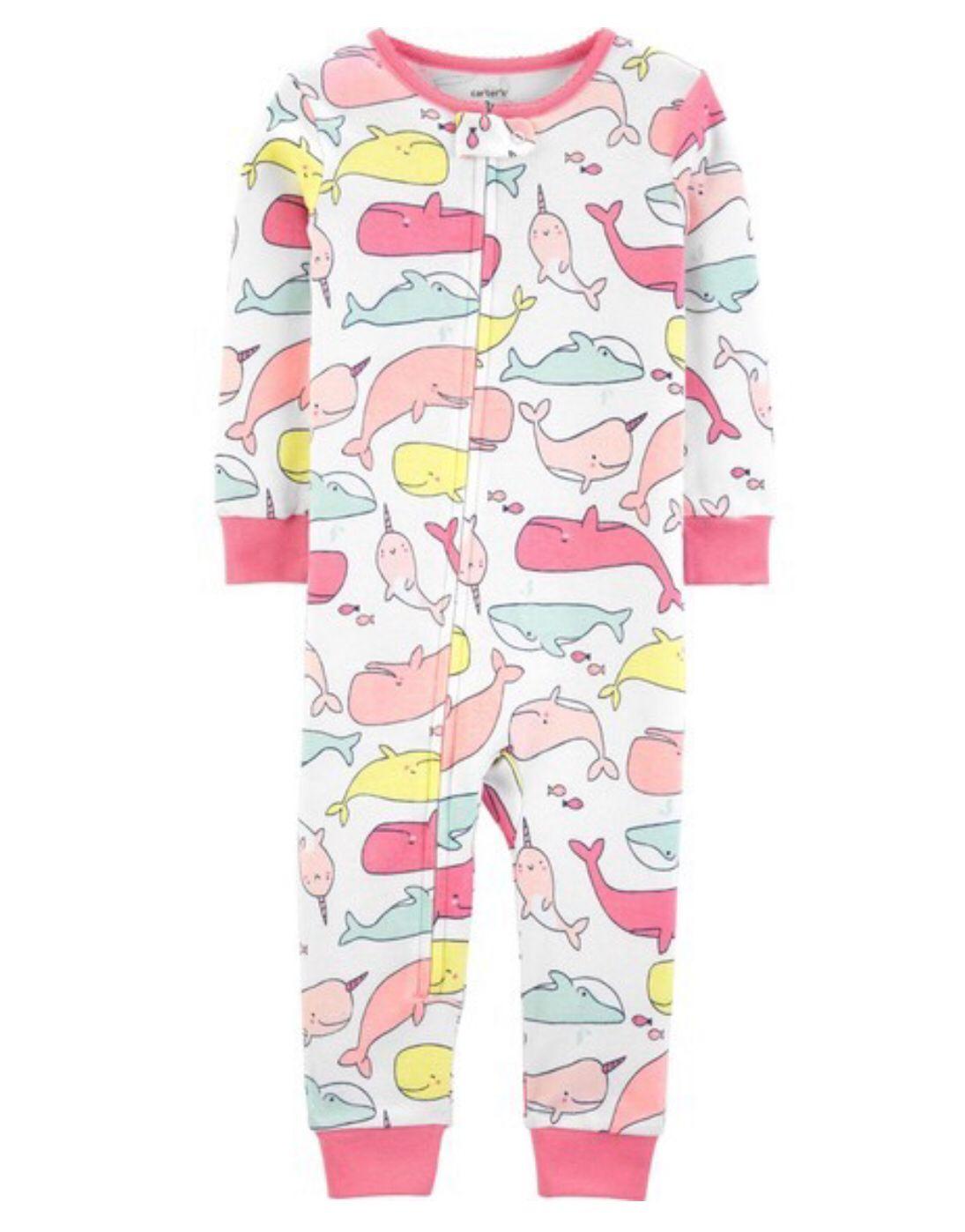 Macacão/Pijama Baleias - Carters