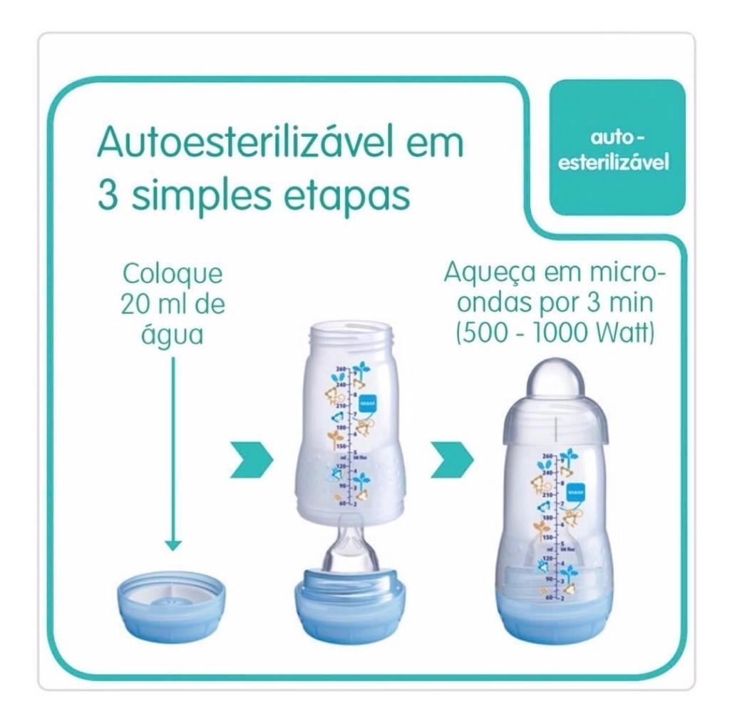Mamadeira Anti Cólica, Gas e Refluxo - MAM