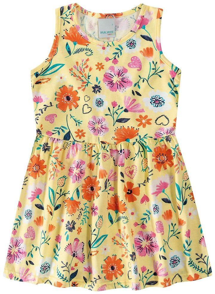 Vestido Curto Malwee - Estampa Flor
