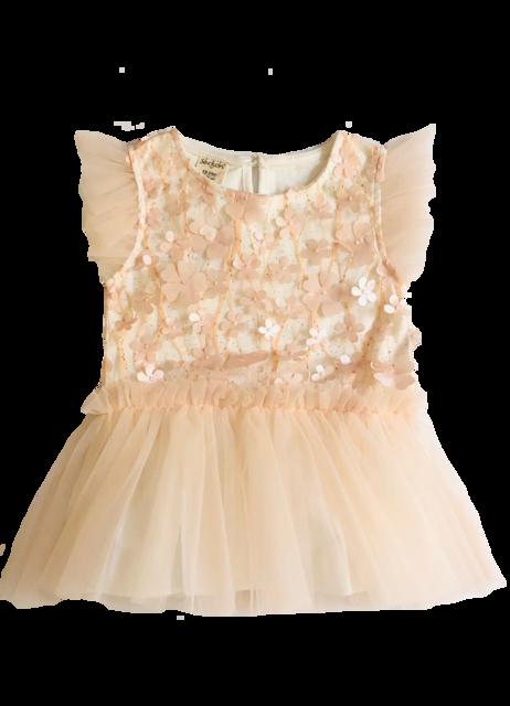 Vestido Lindo para sua Bebê - Rosa de Flor - Serkon
