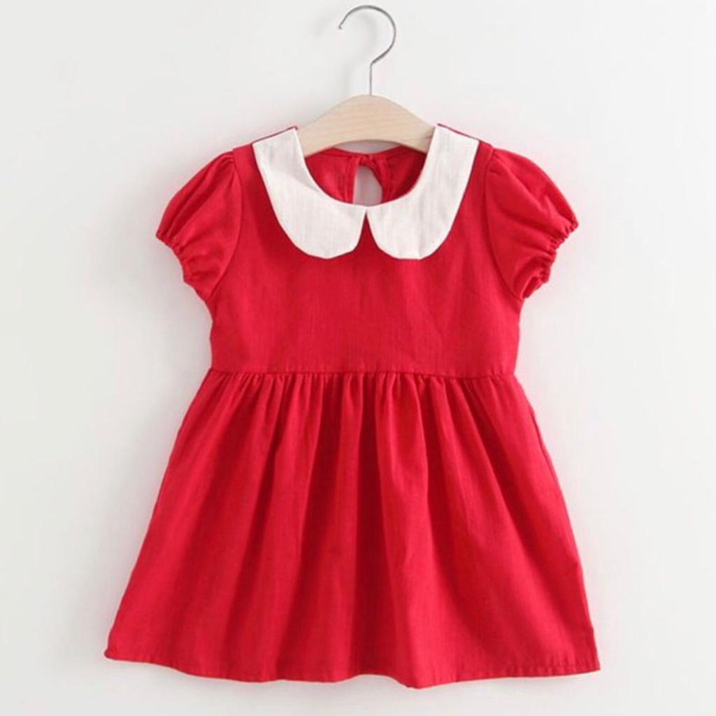 Vestido Vermelho M.Curta Peter Pan