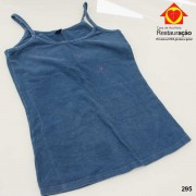Blusa de Alça Azul Marinho