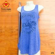 Camiseta Fitness Azul