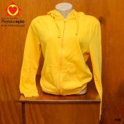 Jaqueta Feminina em Moletom e Algodão Amarelo