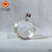 Pingente Cristal Formato Coração