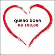 Cartão doação no valor de R$ 100,00