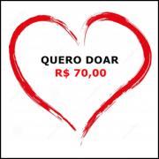 Cartão de doação no valor de R$ 70,00