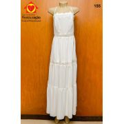 Vestido Branco Longo de Alça