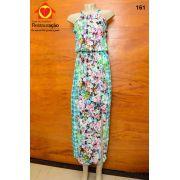 Vestido Floral Gola