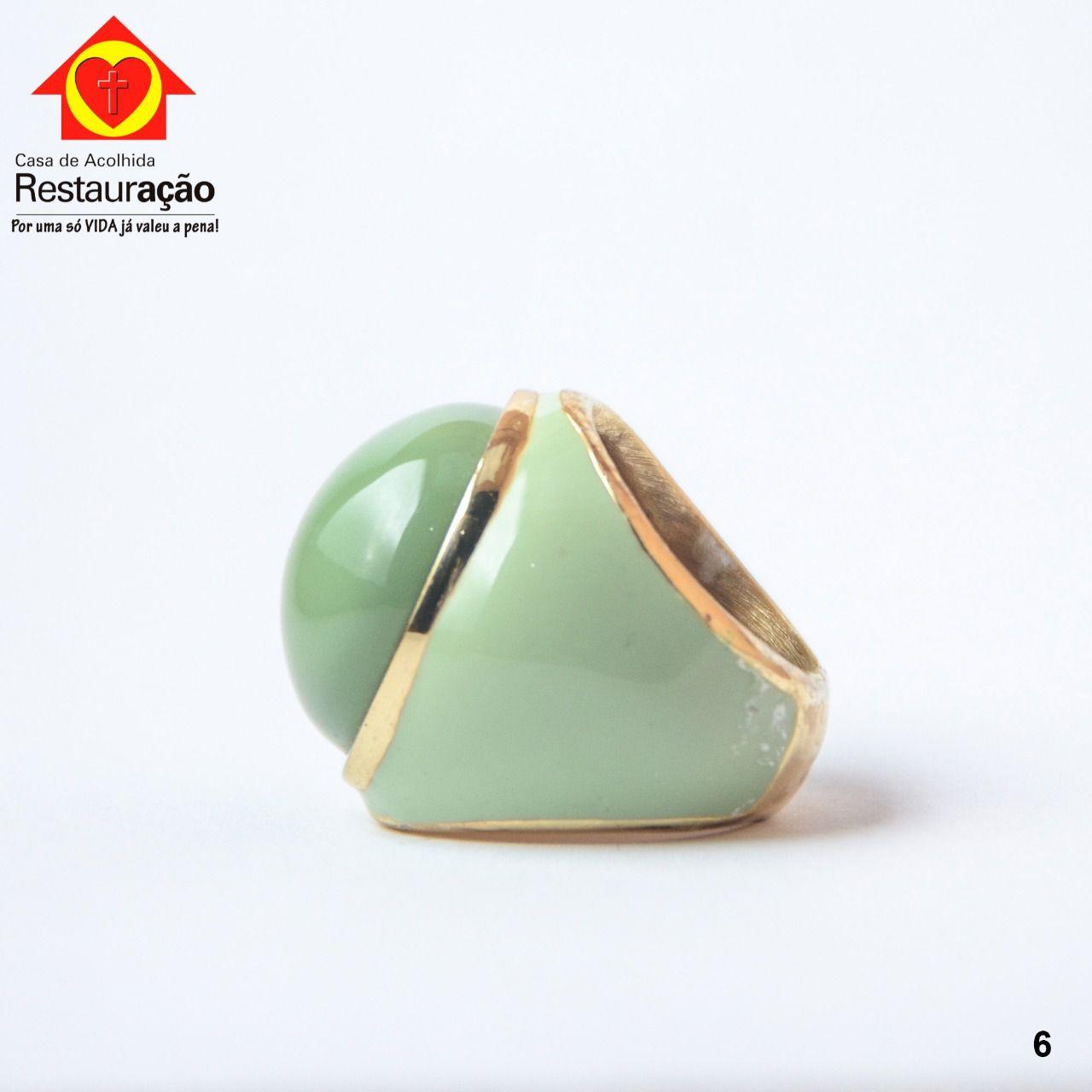 Anel Redondo Verde