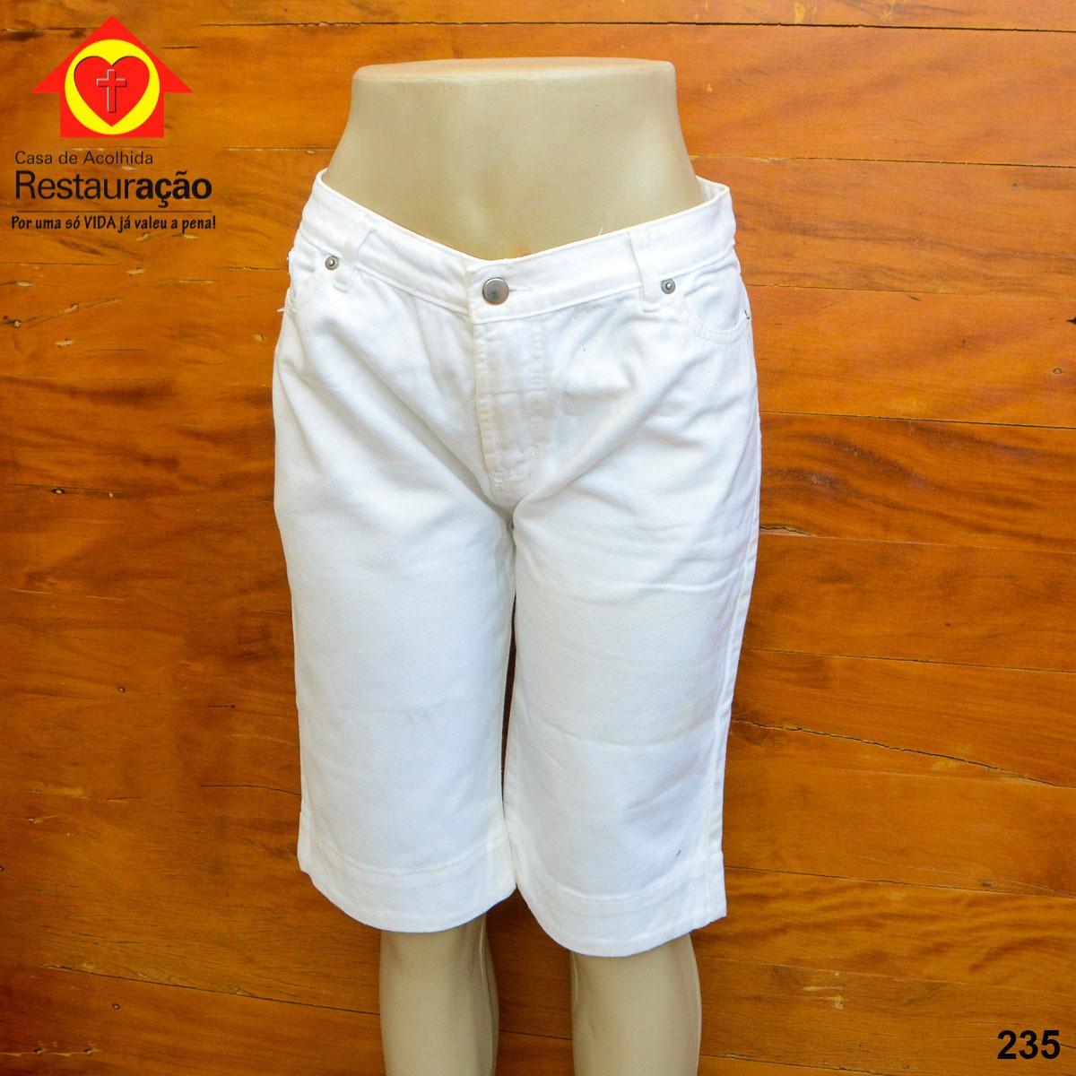 Bermuda Jeans Branca