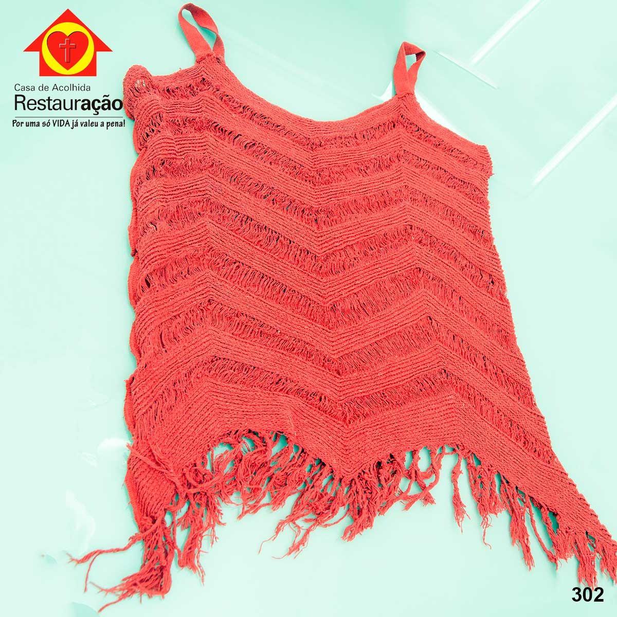 Blusa Vermelha Crochê