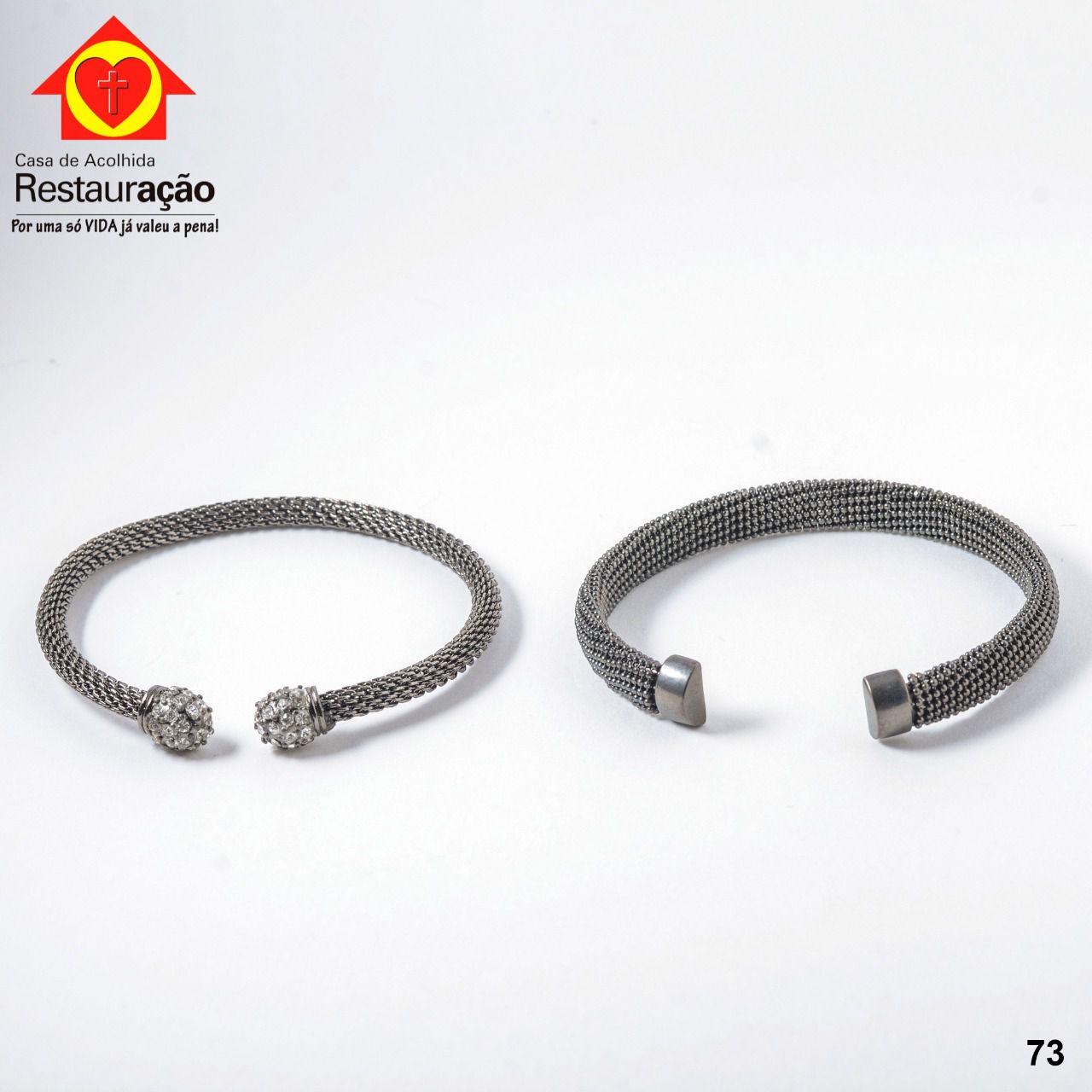 Kit com 2 Pulseiras Prata