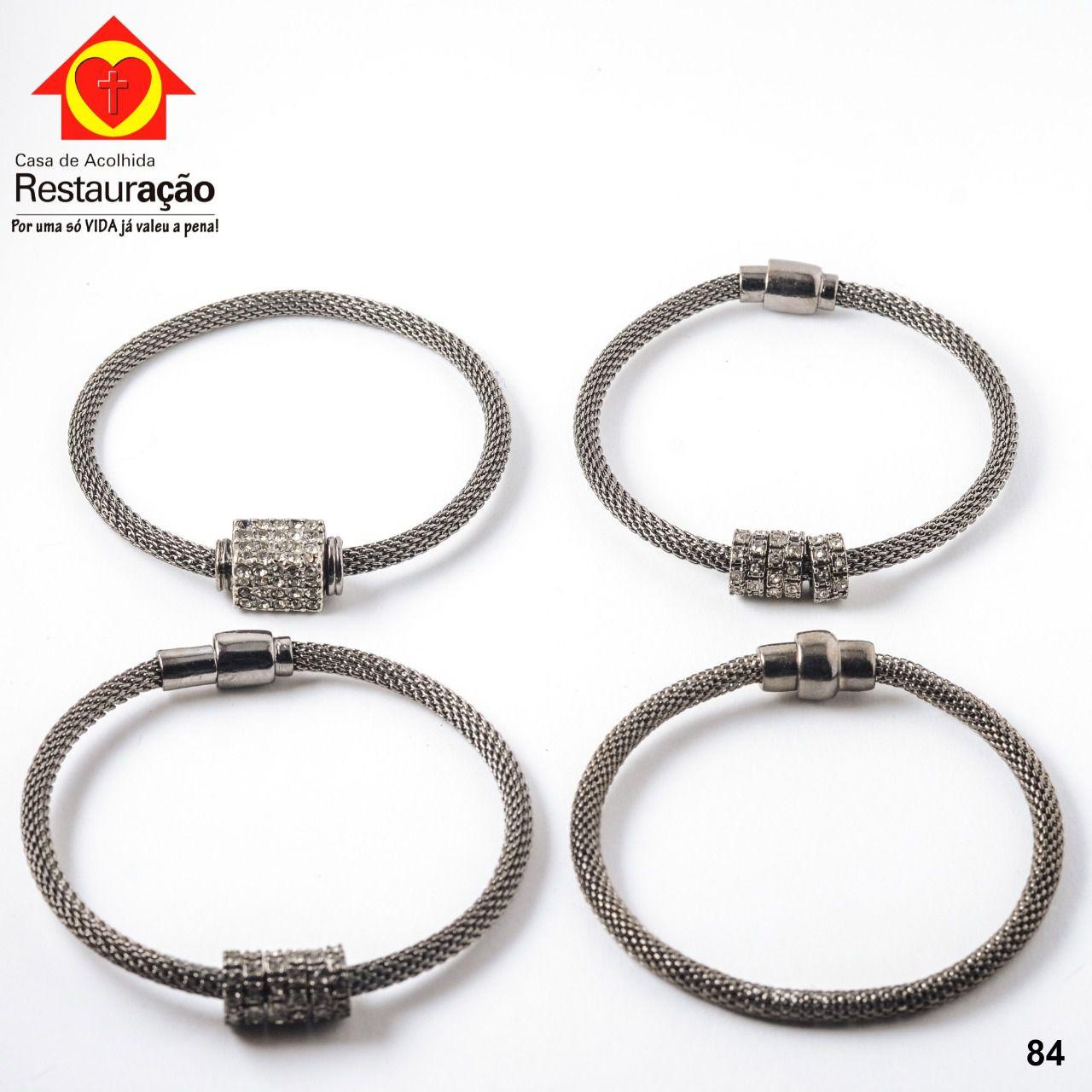 Kit Pulseiras Prata