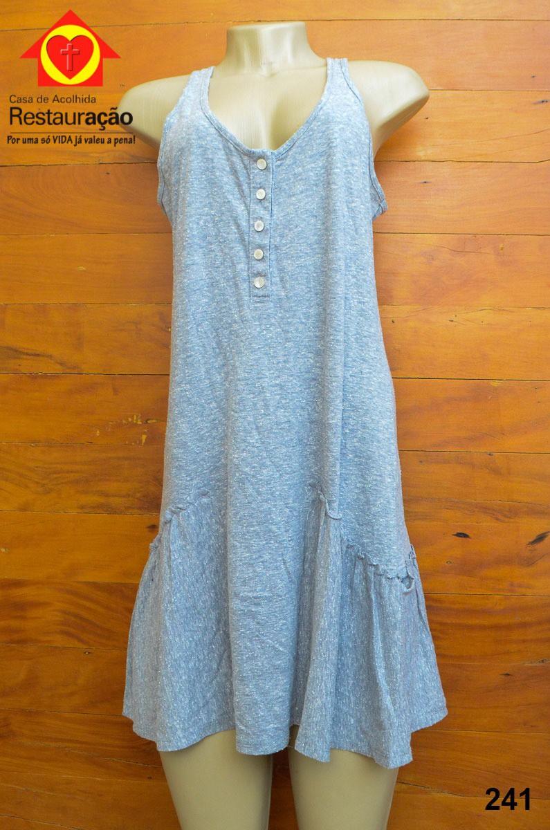 Vestido de Malha Cinza