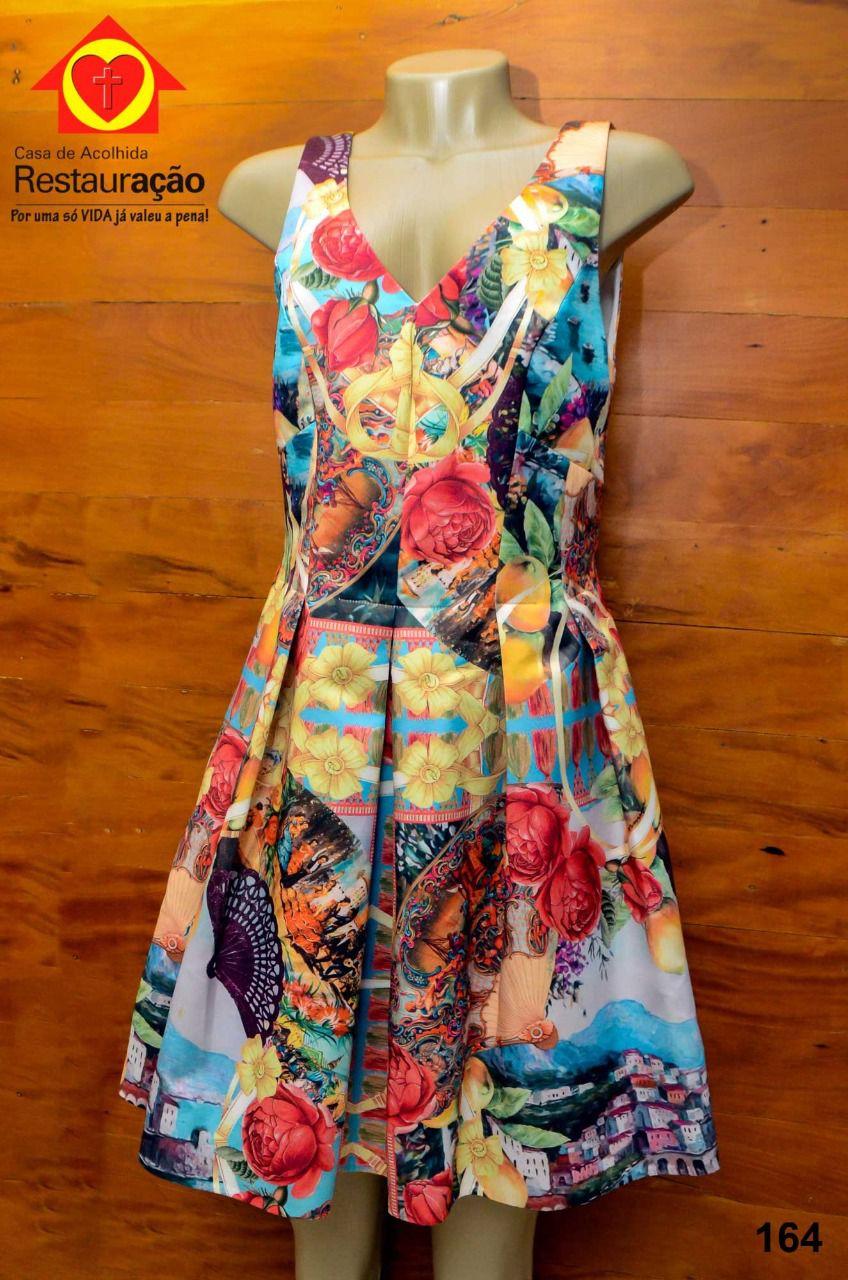 Vestido Floral c/ Alça Larga