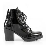 Bota Vegano Shoes Cano Curto Preta