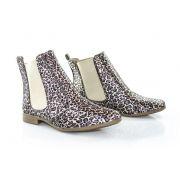 Bota Vegano Shoes Chelsea Clívia Animal Print