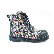 Bota Vegano Shoes Naturale Floral Preto
